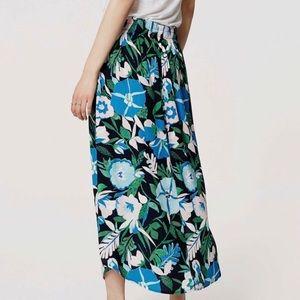 Loft petite jungle printed maxi skirt